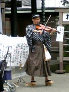 バイオリン少年 in <br />  巣鴨①